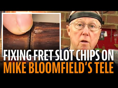 Fixing fretboard chips on the Mike Bloomfield Tele