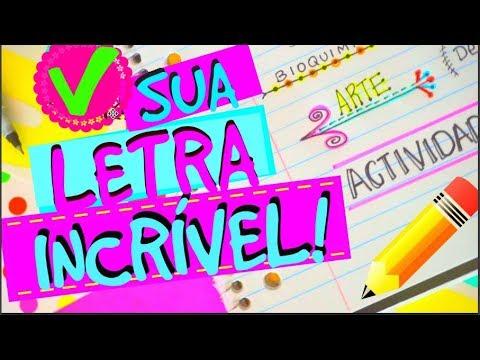 1f80939bb6 COMO FAZER UMA LETRA BONITA... - YouTube