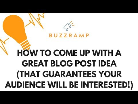 2 ways to a winning blog post idea - Blog ideas for business - Marketing and PR Tips - BuzzRamp