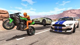 Wheelie Crashes #1 - BeamNG DRIVE