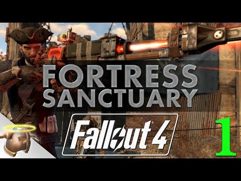 FORTRESS SANCTUARY - Huge, realistic Fallout 4 settlement tour & battle!