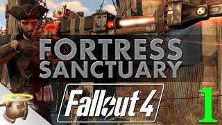 FORTRESS SANCTUARY - Huge, realistic Fallout 4 settlement tour & battle!