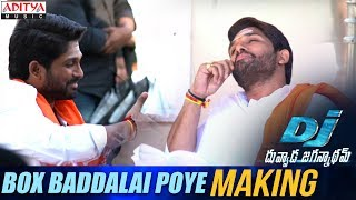Box Baddalai Poye Song Making || DJ Song Promos || Allu Arjun, Pooja Hegde, Harish Shankar || DSP