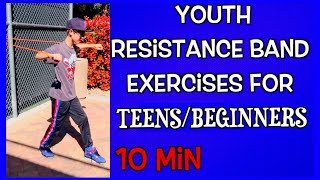 Resistance Band Workouts/Exercise for Teens and Adults