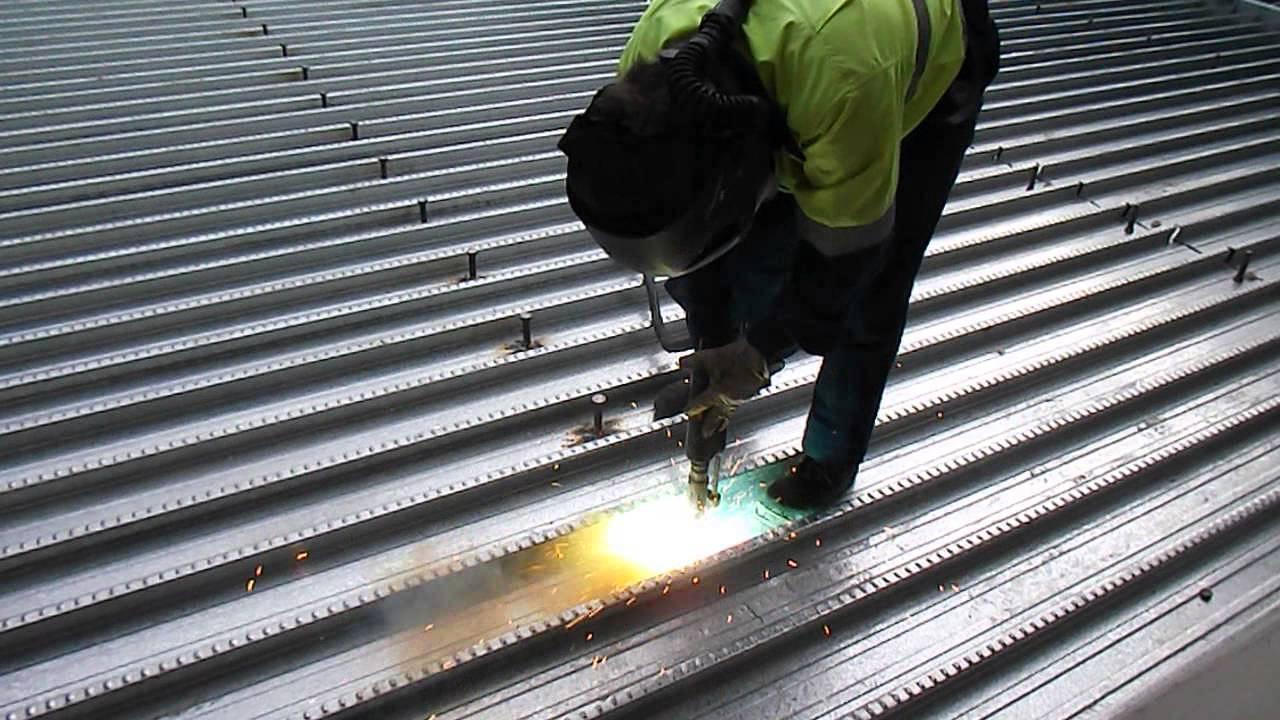 Lighting Basement Washroom Stairs: Shear Stud Install
