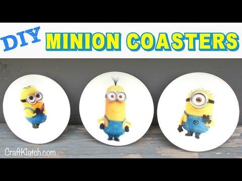 Minion Coasters DIY Another Coaster Friday Craft Klatch