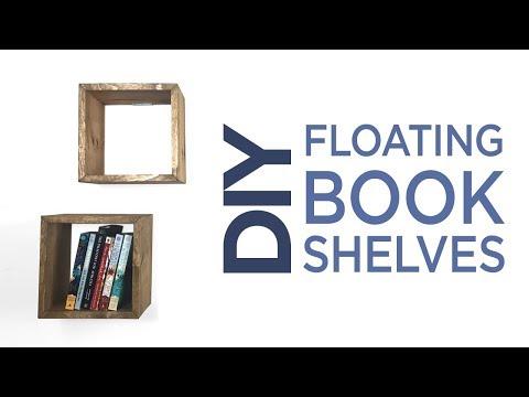 DIY Simple Floating Book Shelves | 18