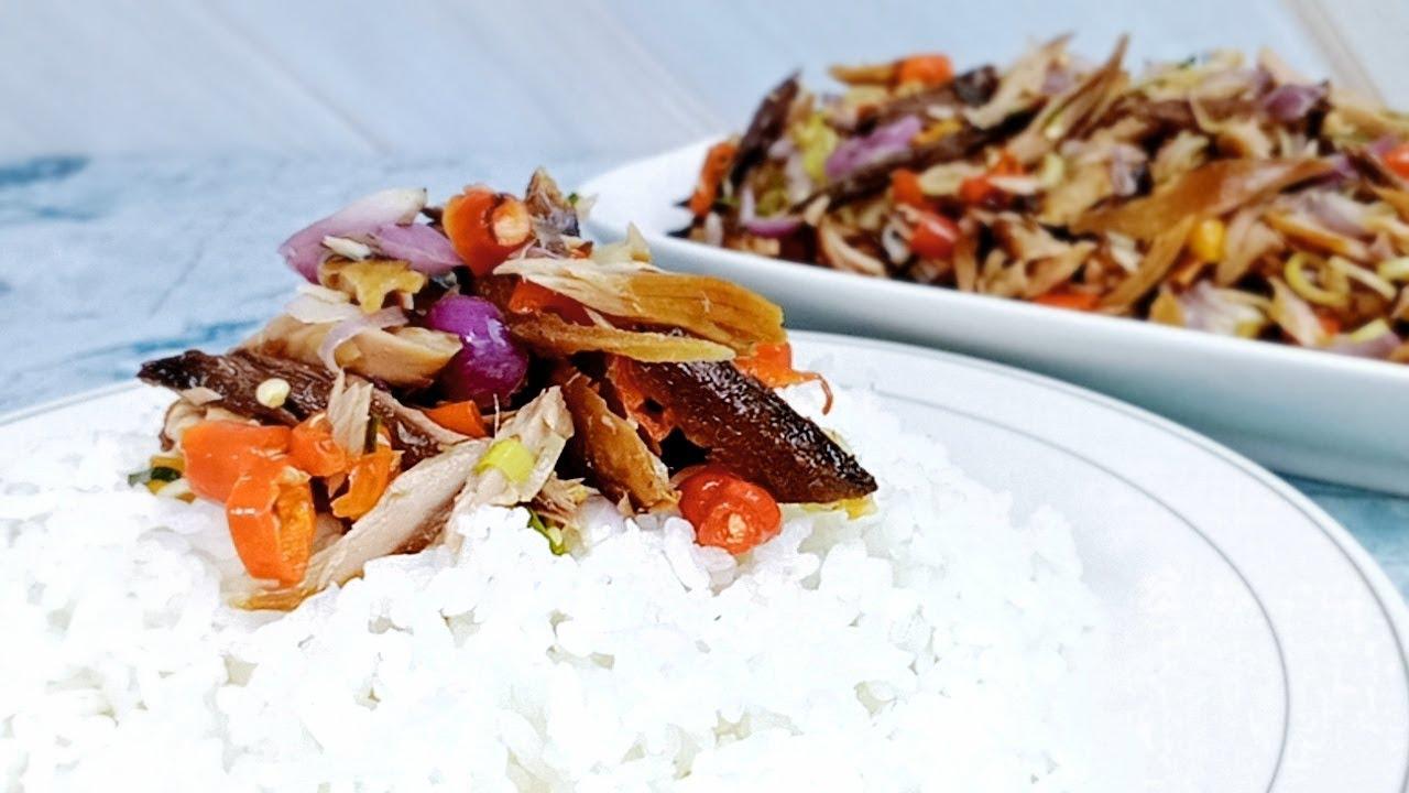 Cukup Pake Nasi Hangat.! Resep Tongkol Suwir Sambal Matah yang Sangat Nikmat