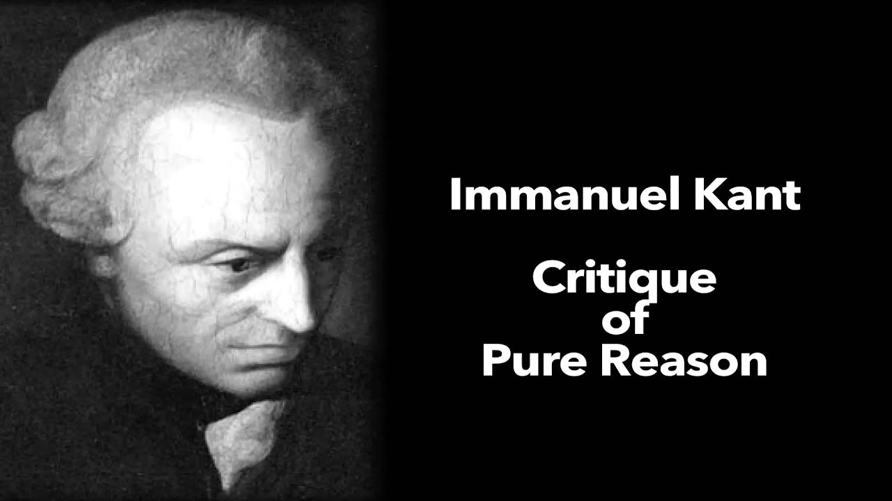 immanuel kant critique of pure reason introduction