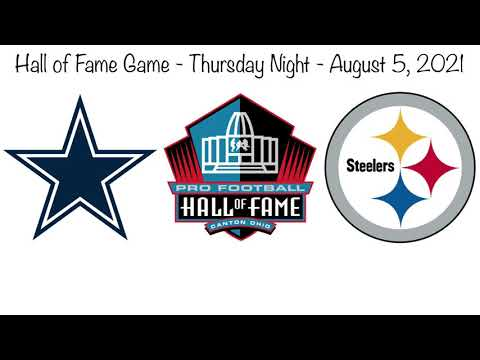 Dallas Cowboys ( Dak Prescott ) vs Pittsburgh Steelers ( Big Ben ) - Pro  Football Hall of Fame Game - YouTube