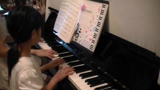 娘・小3のピアノレッスン課題曲、親子連弾です。 楽譜は、ヤマハ「先生...