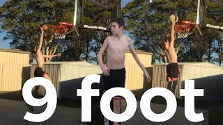 12 year old 9 foot dunk!