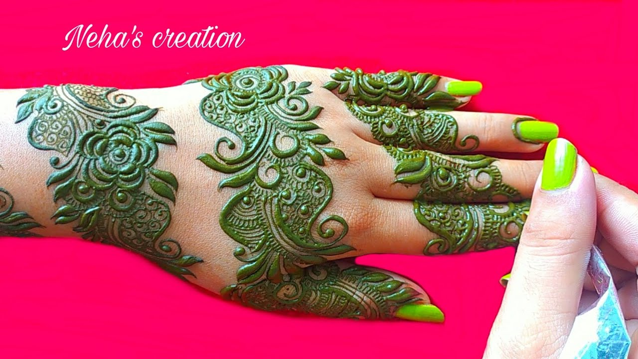 Arabic round मेहंदी डिजाइन henna design l round mehandi design l simple unique bangle mehndi design