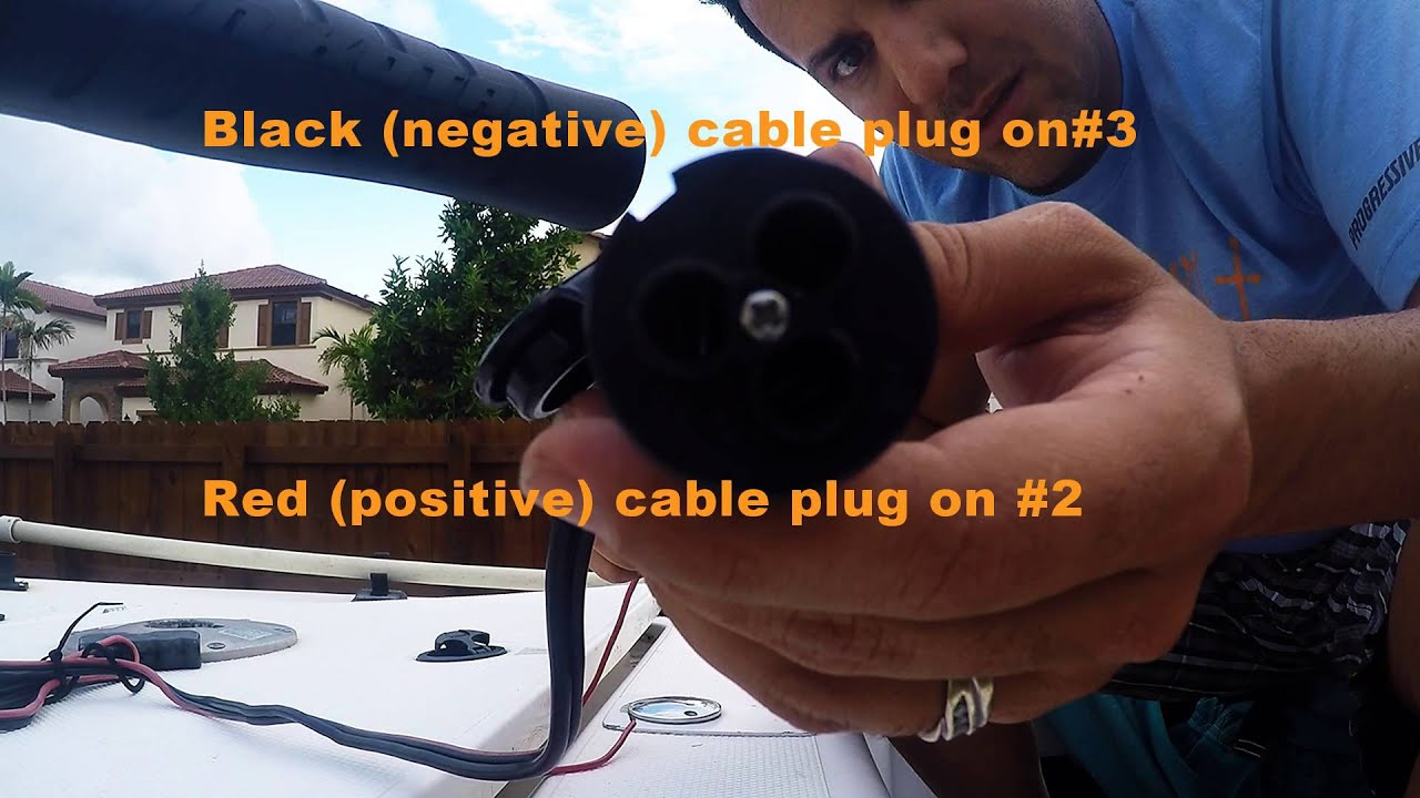 hight resolution of how to replace trolling motor receptacle