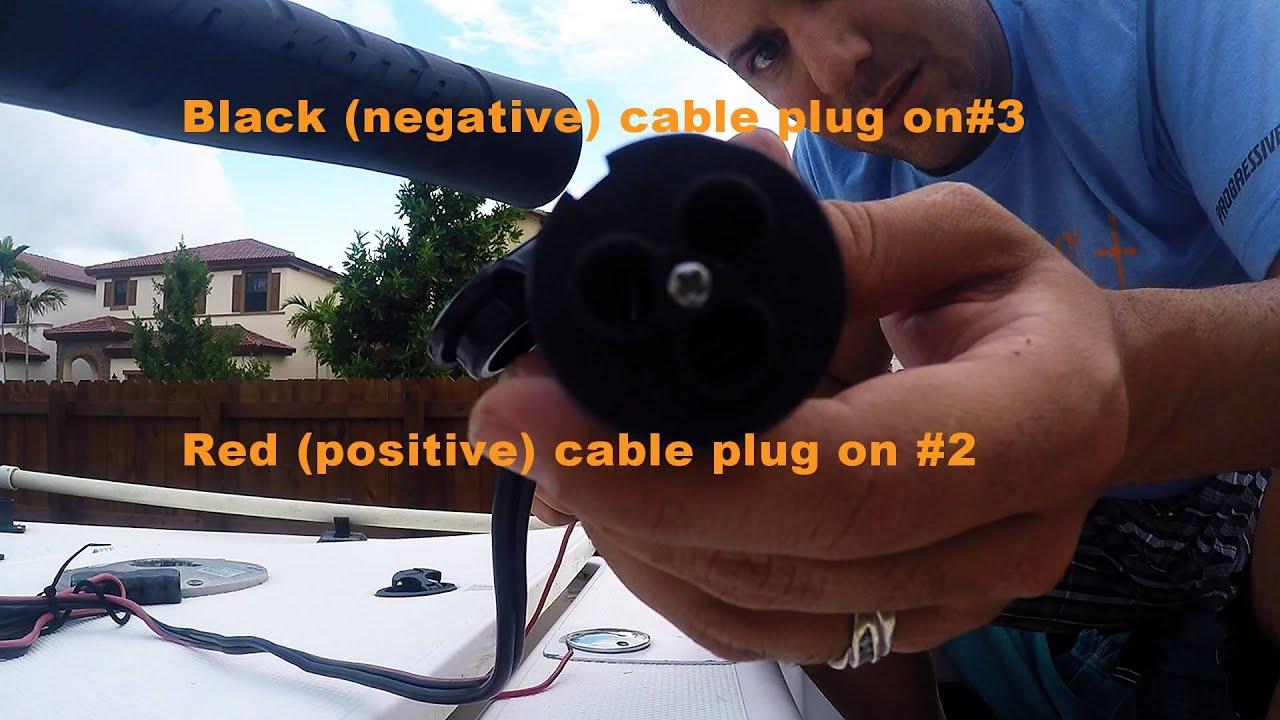 Evinrude 70 Wiring Diagram 1999 Dodge Caravan How To Replace Trolling Motor Receptacle Youtube