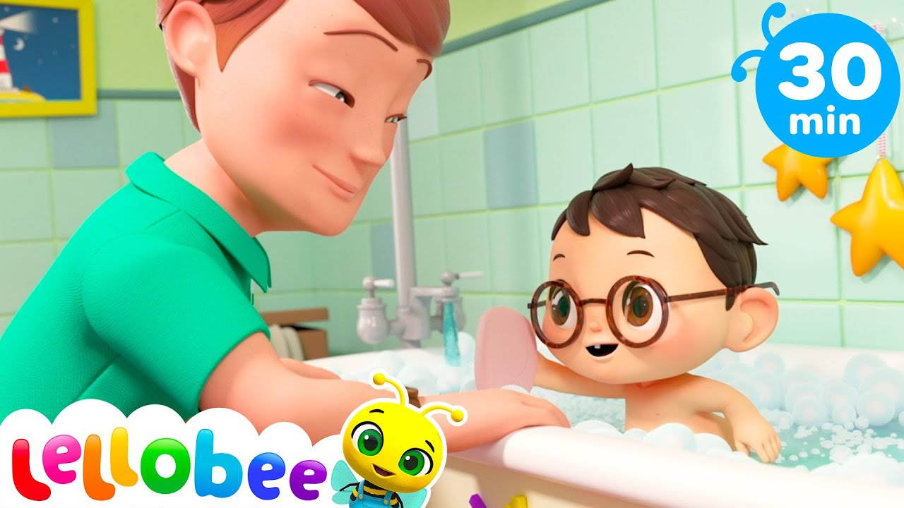 Splish Splash Get Rid Of Bad Germs | Bath Song | Songs For Kids | Little Baby Bum