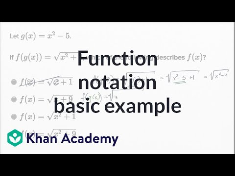 Function Notation — Basic Example | Math | New SAT | Khan Academy