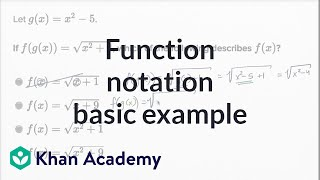 function notation basic example   math   new sat   khan academy