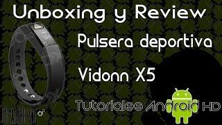 unboxing y review en espaol Vidonn A6 - smartband con medidor de pulso cardaco