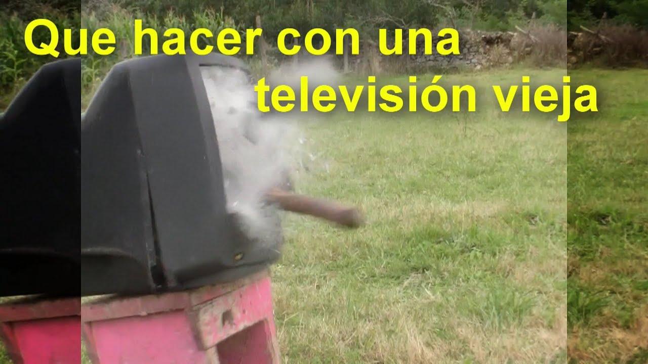 Que hacer con una televisi n vieja youtube for Como reciclar una mesa de tv vieja