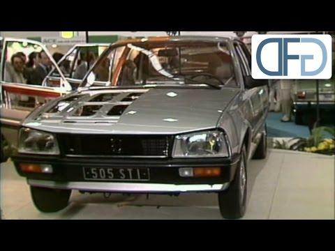 Peugeot 505 STI und Citroën CX Athena auf der IAA 1979