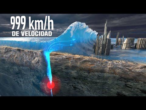 ¿Cómo Funcionan los Tsunamis Gigantes?