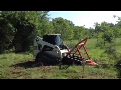 Bobcat With Marshall Tree Saw Youtube