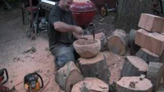 Making A Bowl With A Chainsaw