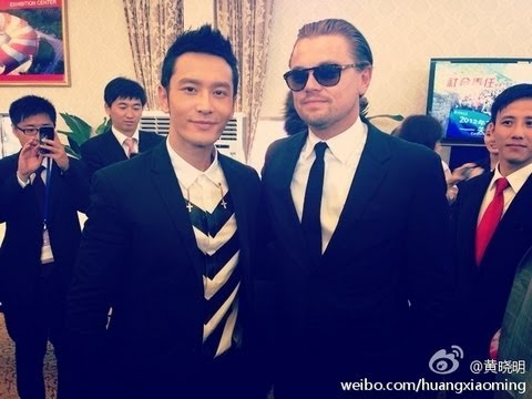 Huang Xiaoming at the grand international Movie Event in Qingdao 22nd Sept. 2013 w/ DiCaprio etc