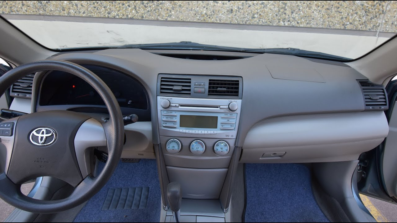 Toyota Camry 2007-2011 Car Stereo Deck Silver In Dash Trim for Installing Radio