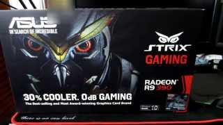 unboxing asus r9 390 strix graphics card