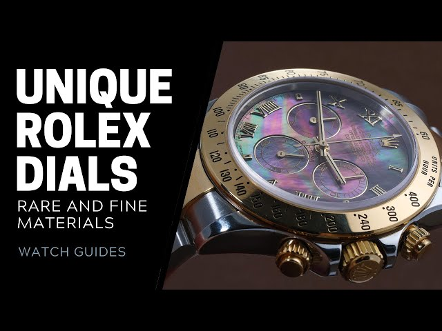 Unique Rolex Dials - Meteorite, Onyx, Mother of Pearl and more | SwissWatchExpo