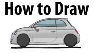 How to draw a Fiat 500 - Sketch it quick!