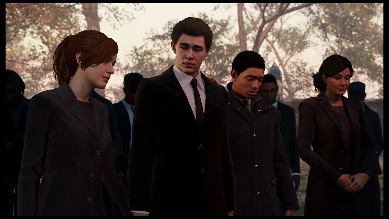 Image result for aunt may funeral spider-man ps4