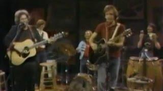 Grateful Dead - 1981 5-7 NBC Tom Snyder pt3 acoustic Dire Wolf & Deep Elem Blues