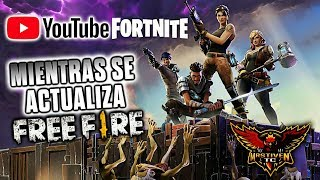PLAYING FORTNITE WHILE UPDATING •FREE FIRE•