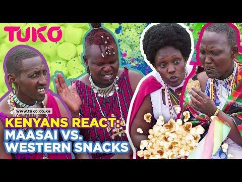 Tuko Reactions: Maasai People React to Western Snacks  Tuko TV