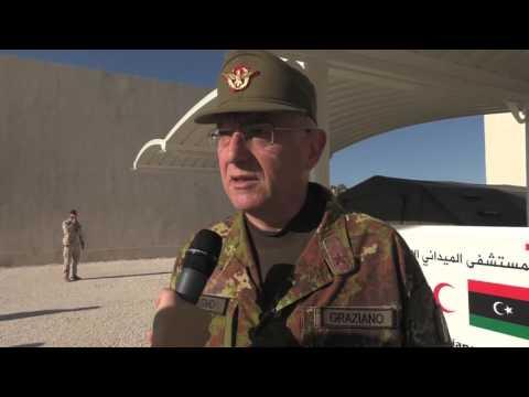 Il Generale Graziano visita il contingente italiano dell`operazione Ippocrate