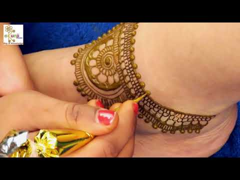 Mehndi Design for Legs | Easy Floral Mehndi Design For Legs by Sonia Goyal #037