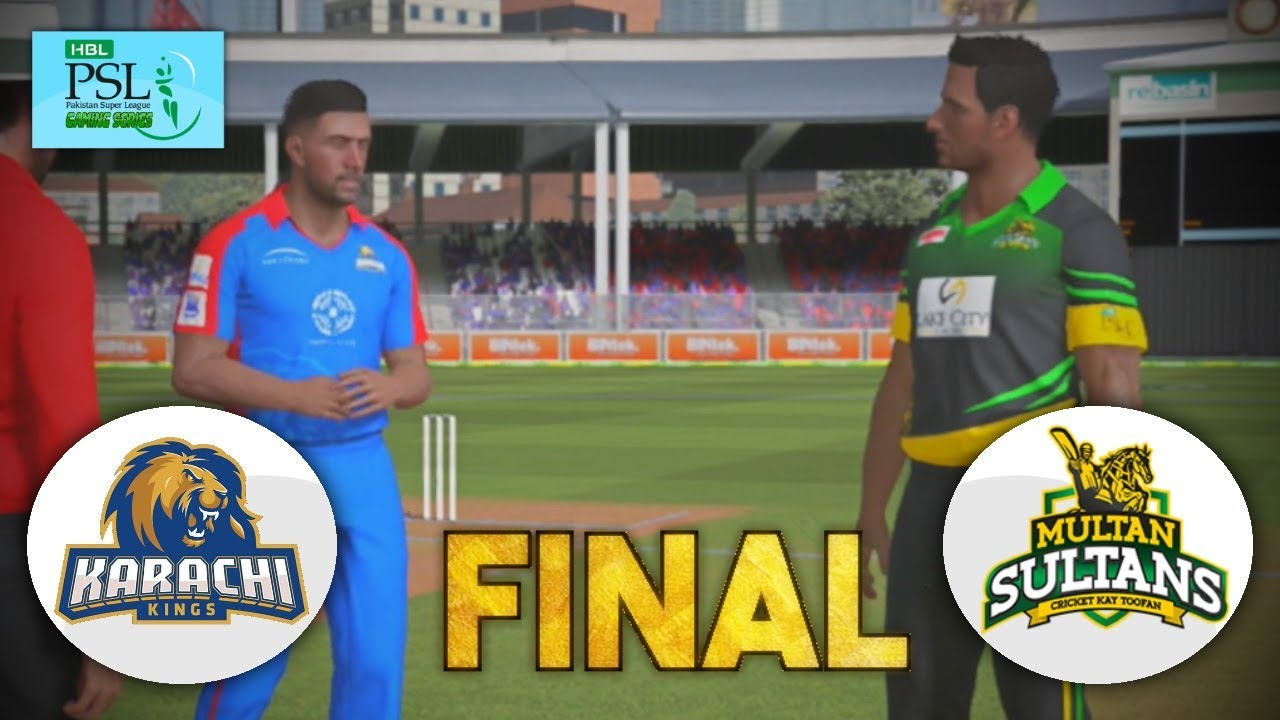 FINAL - PAKISTAN SUPER LEAGUE 2018 (GAMING SERIES) - KARACHI KINGS v MULTAN SULTAN - ASHES CRICKET