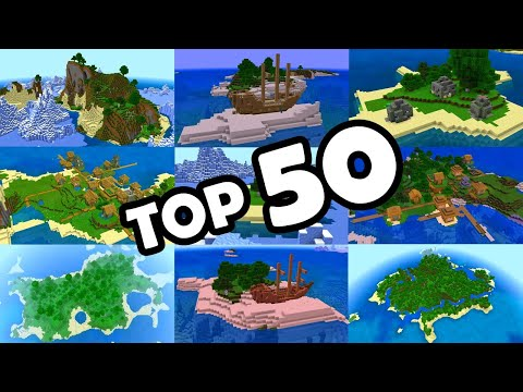 TOP 50 BEST SURVIVAL ISLAND SEEDS For MINECRAFT BEDROCK EDITION! (PE, Xbox, PS4, Switch & W10)