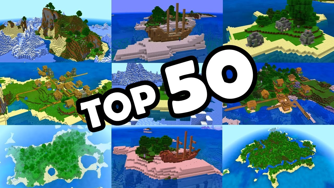 Top 50 Best Survival Island Seeds For Minecraft Bedrock Edition Pe Xbox Ps4 Switch W10 Youtube