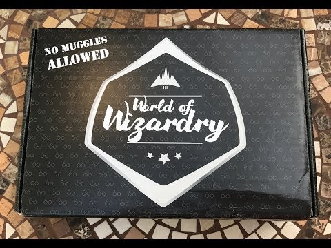 Harry Potter World of Wizardry Subscription Box Unboxing May 2017
