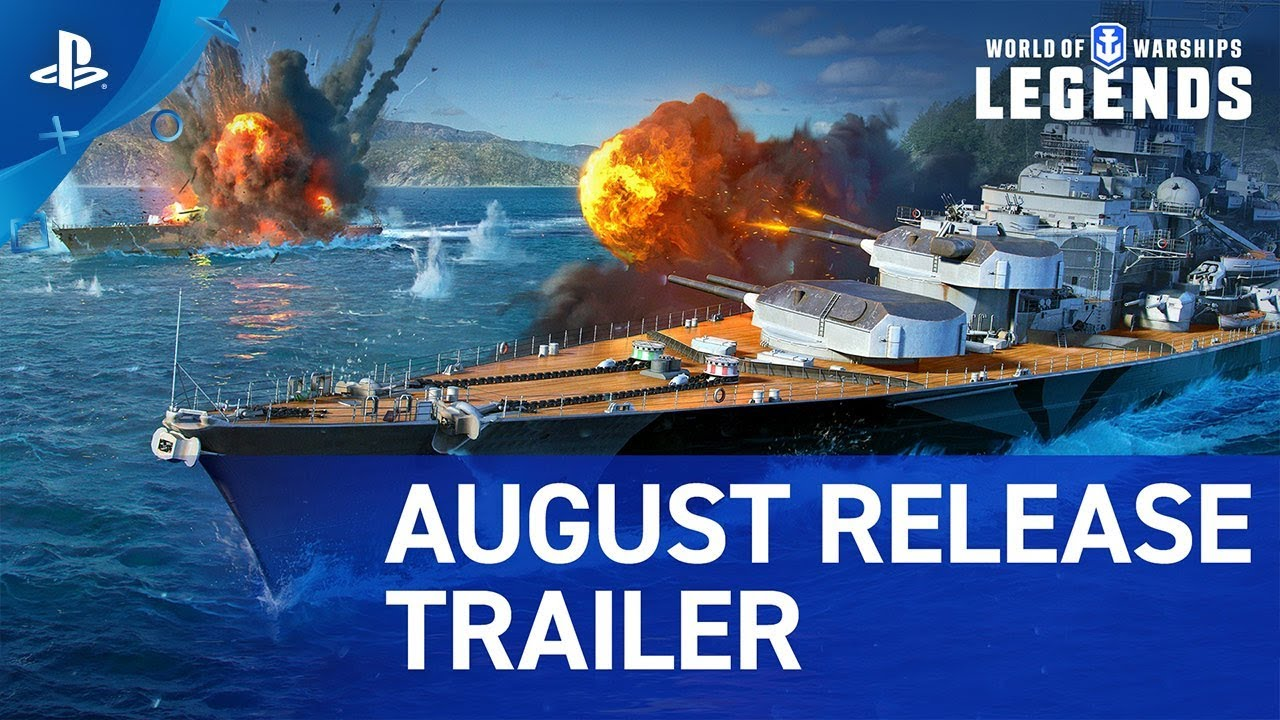 World of Warships: Legends - Update 1 0 Trailer | PS4