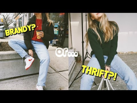 Brandy melville inspired winter thrift haul ☆ #thriftmas