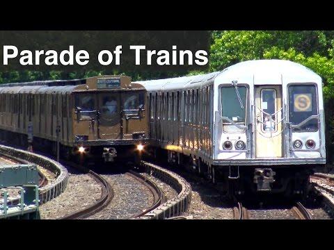 ⁴ᴷ 2016 Vintage Parade of Trains action at Sheepshead Bay