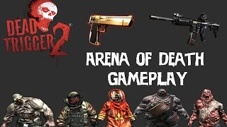 Dead Trigger 2 - Arena of Death - M4 / Golden Desert Eagle Gameplay