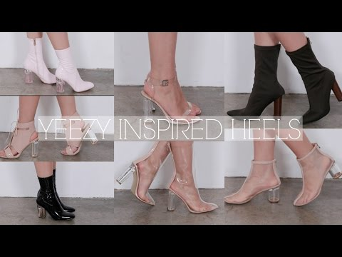 c579457fca2 YEEZY INSPIRED SHOES   CLEAR HEEL SHOES ft. Public Desire  Solange ...