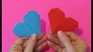 МК Сердечки закладки - Оригами валентинки из бумаги своими руками друзьям на День Святого Валентина