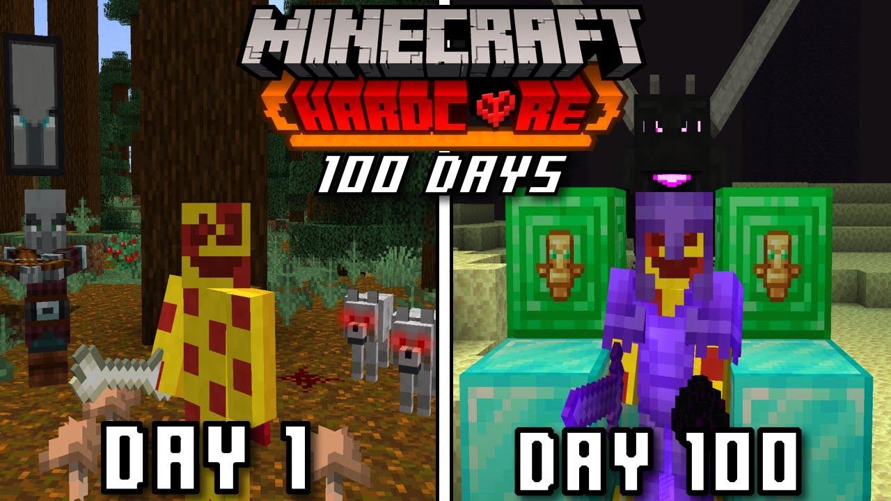 Download (Minecraft 100 Days) !چۆن بە 100 ڕۆژ هاڕدکۆری ماینکرافتم بەزاند
